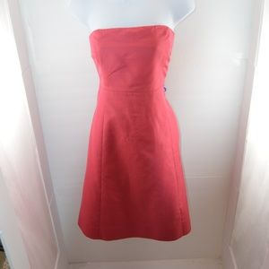 J. Crew Vintage Pink Strapless Dress